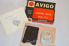 VINTAGE AVIGO esposizione Light Meter modello M-3 nella scatola originale e istruzioni
