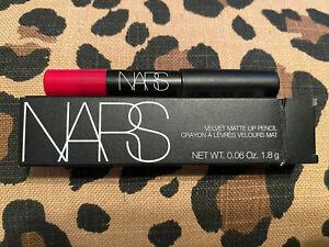 Nars Velvet Matte Lip Pencil Lipstick Let's Go Crazy 0.06oz Travel Mini Size