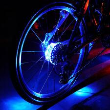 MTB Fahrrad Reifen BLAU LED Beleuchtung Radnabe Licht Bike Nacht Fahren Licht