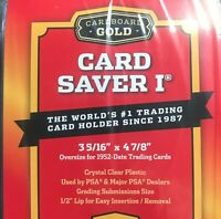 Cardboard Gold PSA Graded Card Saver 1 - 10 Count - Brand New PSA BGS