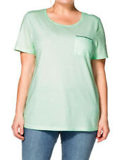 Sheego ladies t-shirt top plus size 18/20 22/24 26/28 30/32 mint green sequin