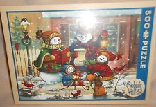 COBBLE HILL CHRISTMAS SONGS OF THE SEASON SNOWMAN PUZZLE JANET STEVER