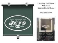"Car Window Auto Shade Philadelphia Eagles or New York Jets NFL Pull Down 14X18"""