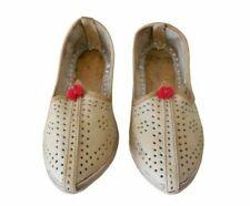Indian Handmade Leather Flip-Flops Men Shoes Ethnic Jutties Mojaries Flat US 7-8