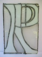 """VINTAGE STAINED GLASS LETTER """"R"""" WINDOW SUN CATCHER"""