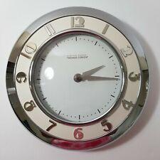 Thomas O'Brian Vintage Modern Stopwatch Clock, Silver & White
