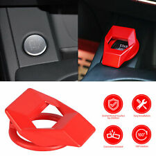 Universal Car Accessories Engine Start Stop Push Button Cap Cover Trim Red Alloy