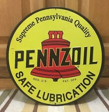 Pennzoil Gas Pump Petroleum Motor Oil  Sinclair Mobil Can Wall Vintage Style