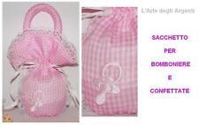 SET 10 BAG PINK CIUCCIOTTO BAPTISM CONFETTI
