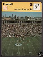 HARVARD STADIUM NCAA Football Boston Photo 1979 SPORTSCASTER CARD 64-11
