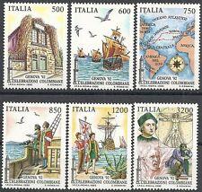 1992 ITALIA COLOMBO 6 VALORI MNH **
