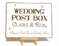 Personalised Post Box Cards Wedding Metal Vintage Shabby Chic Style Plaque Sign