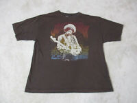Jimi Hendrix Concert Shirt Adult Extra Large Brown Rock Music Tour Band Mens