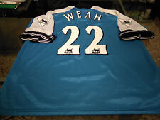 Maglia Weah Manchester City #22 2000-01 issue shirt maillot trikot jersey