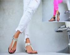 Damenschuhe Sommer Sandalen Zehentrenner-Ballerinas Keilabsatz Freizeitschuhe
