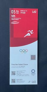 Tokyo 2020 Athletics day seven August 5th unused ticket Mint RARE