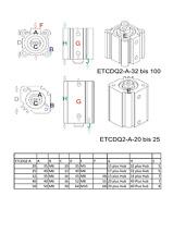 Etcdq 2a20x80-d aire cilindro piston neumatico con iman
