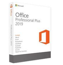 Microsoft Office 2019 Professional Plus & Key / 1 - 3 PCs / Vollversion / DVD