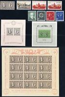 SCHWEIZ 1943, Jahrgang komplett tadellos postfrisch mit Block 8-10, Mi. 297,-