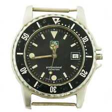 TAG HEUER 980.029 PROF BLACK PVD STAINLESS STEEL HEAD FOR PARTS OR REPAIRS