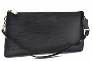 Authentic Louis Vuitton Epi Pochette Accessoires Pouch Black LV A7502