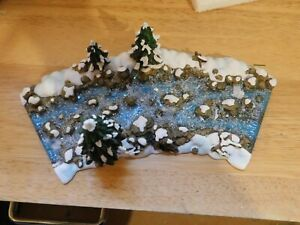 """Dept 56 Village Accessories """"Mill Creek Curved Section"""" #56.52634 - LQQK!"""