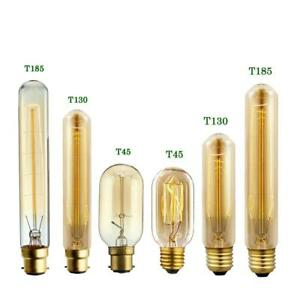 Tall Edison E27/B22 Vintage Incandescent Lamp Squirrel Cage Dimmable Light Bulbs