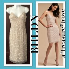 New Anthropologie BHLDN KATRINE Ivory Nude Embellished Shower Rehearsal Formal 4