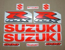 GSXR 600 fluo red decals stickers graphics set fluorescent signal srad gixxer k6