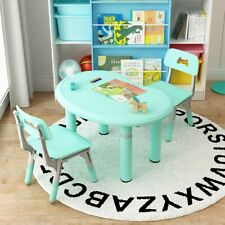 Height Adjustable Kids Table Chair Set Children Furniture For Toddlers Learning