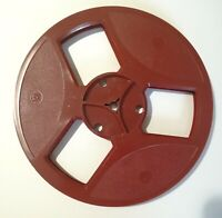 Brown 7'' Empty Reel to Reel Spool for Recording Tape. Rare.
