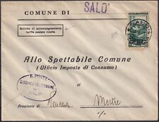 1951 11 Jul Bill of accompognamento in postal rate reduced from Salo 'for