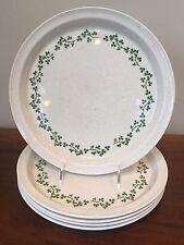 Arklow Ireland WILD SHAMROCK Brendan Dinner Plates ~ Set of 5