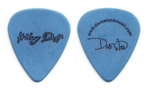 Hilary Duff Dave Wood Signature Blue Guitar Pick - 2007 Tour