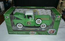 2019 M2 MACHINES 1958 GMC STEPSIDE TRUCK GREEN HAYS R70 1:24 SCALE