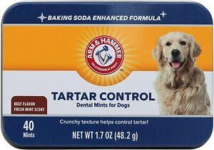 Arm & Hammer Dog Chew Mints Dental Treat Fresh Breath- Beef ATTACK PLAQUE TARTAR