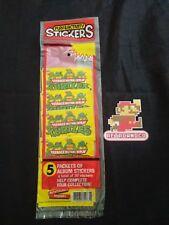 5 paquets de stickers autocollants tortues ninja neuf vintage rare