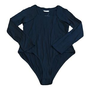 Tu Womens Black Long Sleeve Bodysuit Size 20UK NEW WITH TAGS