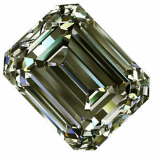 Real Loose Moissanite For Earrings/Jewelry/Ring 4.70 Ct Fancy Gray Color Emerald