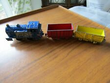 Vintage Dinky train and 2 trucks