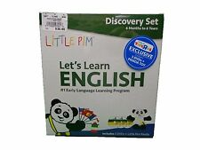 NEW Little Pim Let's Learn English Discovery Set with 3 DVDs & Panda Plush