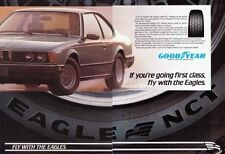 1984 BMW 633CSi  ~  GREAT ORIGINAL 2-PAGE GOODYEAR AD