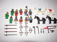 Vintage Lego Knights,Horses,Men,Helmets,Swords,Bows, Plus more 45 different pcs.