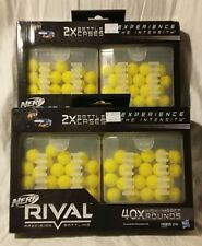 NERF Rival Blaster 40x Round Refill Packs High Impact Precision Battling 83483