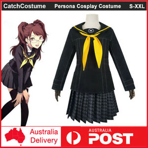 Persona 4 The Golden Kujikawa Rise Cosplay Costume School Uniform Party Outfits