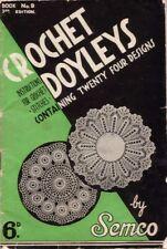 Crochet Doyleys Containing Twenty Four Designs by Semco BOOK