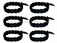 6 x GEORGE BLACK BEAD ELASTICATED BRACELET ACCESSORY NEW MORE BARGAINS IN SHOP