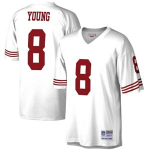 San Francisco 49ers Steve Young #8 Mitchell & Ness White 1990 NFL Legacy Jersey