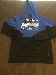 nike kentucky wildcats hoodie NWT $80 blue hooded sweatshirt large UK