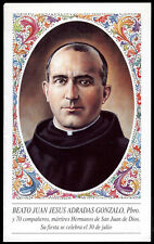 """santino-holy card""""""""B.JUAN JESUS ADRADAS GONZALO M."""